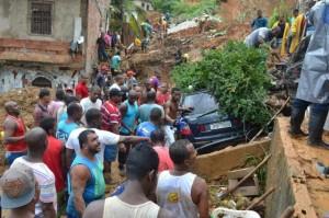 Foto PSTU: imagem de caos após fortes chuvas da semana passada em Salvador (BA)