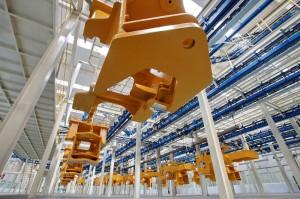 Produção automatizada de pá carregadeira (foto: divulgação).