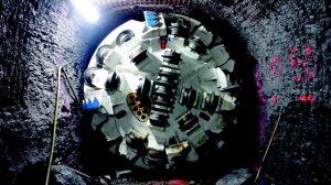 Tuneladora em operação no Lago Ontario (foto: divulgação).