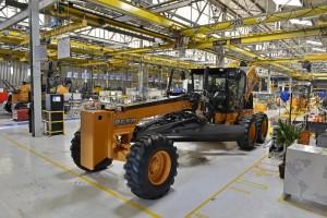 Motoniveladoras produzidas em Contagem são exportadas para todas as operações mundiais da Case.