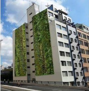 Jardim vertical no Condomínio Edifício Huds  (foto: divulgação).