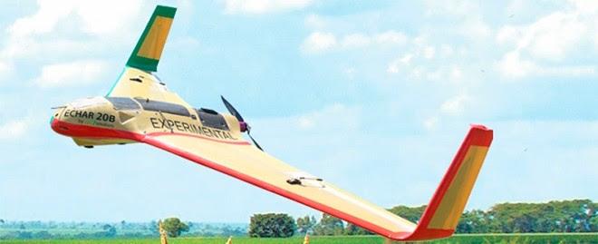 Echar tem autonomia de 90 minutos e envergadura de 2,1 m.