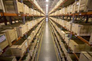 Centro de Distribuição John Deere com 120 mil itens estocados. Foto de Divulgação.