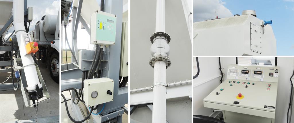 Componentes do sistema de segurança para silos utilizado pela FIT Concreto. Foto: divulgação