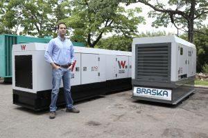 Achcar, da Braskar: primeiro cliente de geradores Wacker Neuson nacionalizados